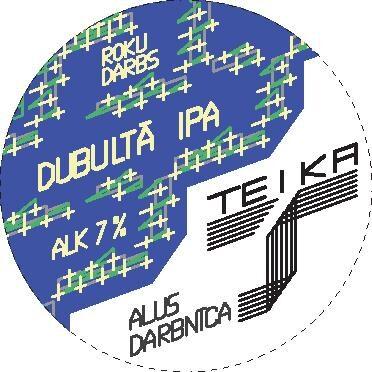 """alus """"DUBULTĀ IPA"""", 7.5%, lejamā veidā 1L vai 2L tilpumā"""